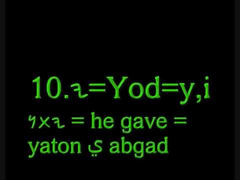 canaanite-phoenician language: writting: phoenician alphabet (alfbeet)