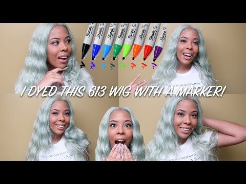 I DYED THIS WIG WITH A MARKER | DYING A SYNTHETIC WIG WITH A SHARPIE