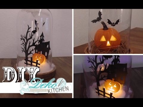 diy halloween mini k rbis spukhaus selber machen how to deko kitchen youtube. Black Bedroom Furniture Sets. Home Design Ideas
