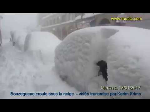 Bouzeguene sous la neige 2017: impressionnantes images du chef lieu de la commune