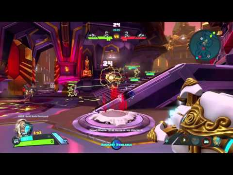 Battleborn - Multiplayer Incursion on Echelon Map: ISIC (Charge Cannon, Plasma Dash, Omega Strike)