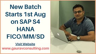 SAP S/4 HANA FICO/ MM/ SD Online Training | New Batch Starts 1st Aug'20 | Get 30% Discount