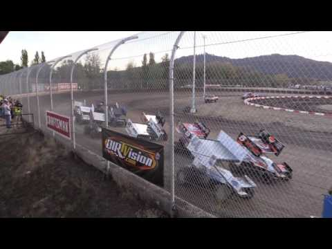 Dominic Scelzi 9-7-16 Qualifier World of Outlaws Willamette Speedway