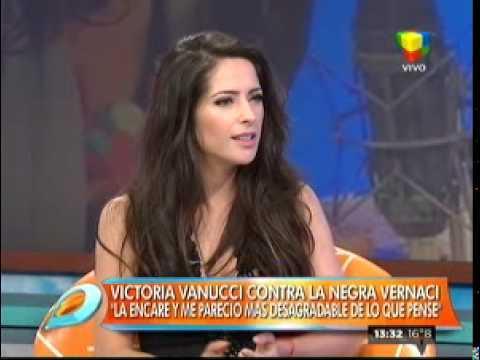 Vannucci habló del escándalo con La Negra Vernaci en Italia