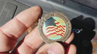 Metal Detecting;  9/11/01 Flight 93 tribute medallion with my AT Pro
