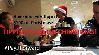 GIVING A WAITRESS $100 TIP ON CHRISTMAS EVE | Jason Asselin