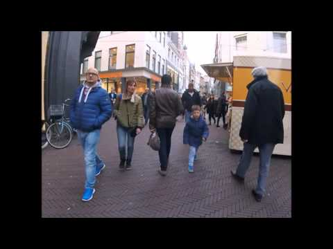 Den Haag Walking in Downtown Shopping District and ChinaTown 2015 #Denhaag