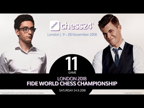 Carlsen-Caruana Game 11 - 2018 FIDE World Chess Championship