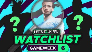 FPL WATCHLIST GAMEWEEK 6 (Players t๐ Target)   Fantasy Premier League Tips 2021/22