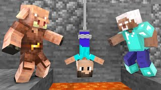 Monster School : Piglin vs Herobrine - Action Story - Minecraft Animation
