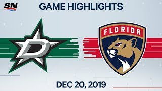 NHL Highlights | Stars vs Panthers - Dec. 20, 2019