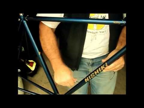 83 Nishiki bicycle III. Water bottle cage installation..