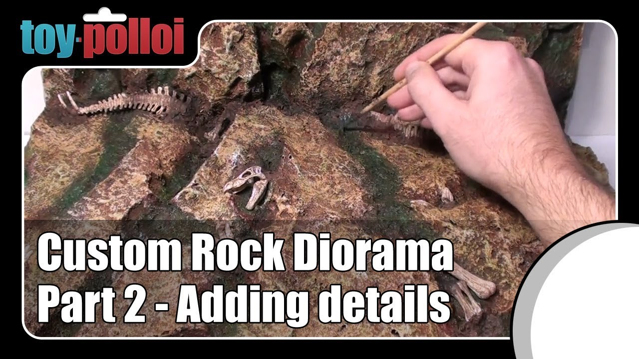 How to - Action Figure Rock Diorama background part 2