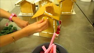 Assembling And Decorating A Gingerbread Folk House