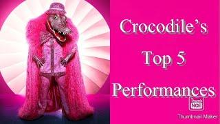 Crocodile's Top 5 Best Performances | Masked Singer | Season 4