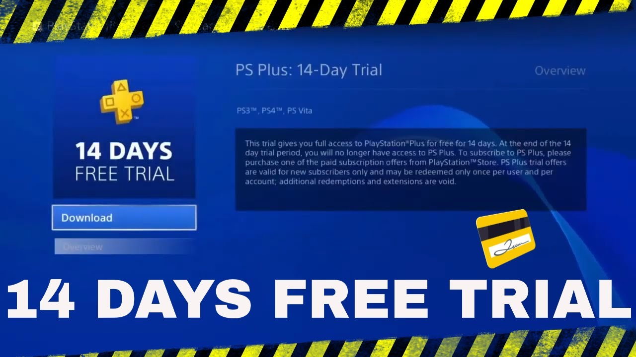 how to get ps plus free trial without credit card