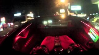 Ferrari 458 Italia with lit engine bay