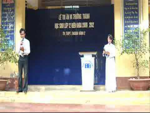 TRƯỜNG THPT THANH BÌNH 2  TRI ÂN VÀ TRƯỞNG THÀNH 2012.wmv