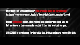 Epic Games Fortnite Launcher Error Su Pqr1603 Error Fixed