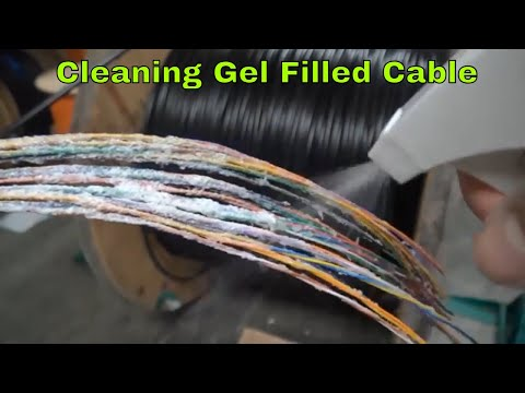 How to clean that Icky-pick gel off direct burial wire and cable