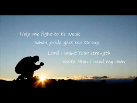 Bruce Carroll  Fight to Be Weak wlyrics