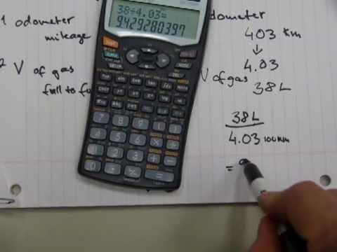 Fuel economy calculation