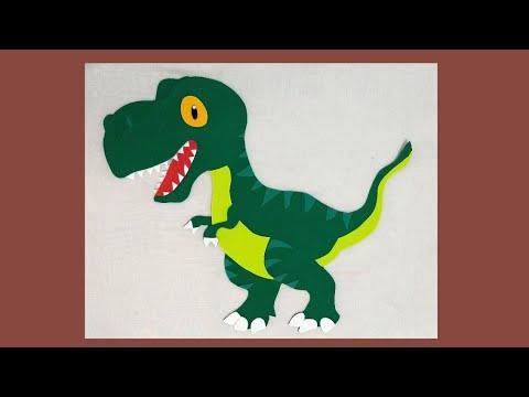 Dinossauro De E V A Com Molde Youtube