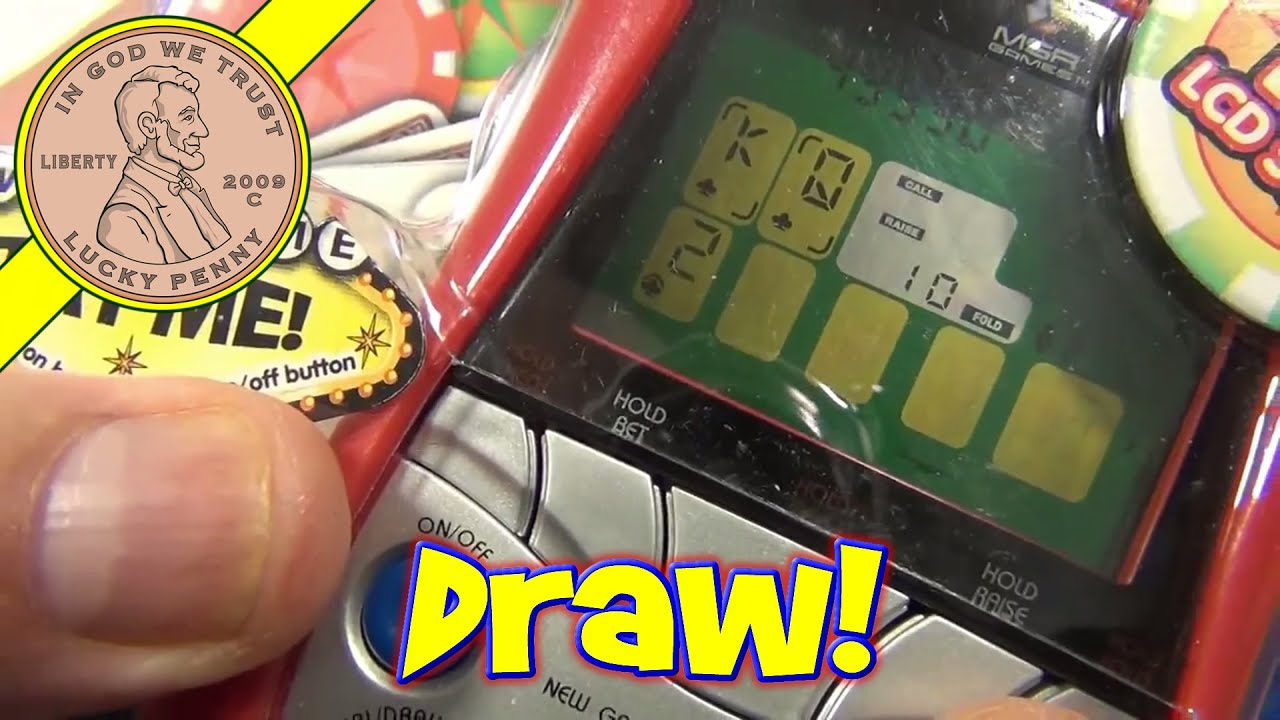 5 Card Draw And 7 Card Stud Electronic Handheld Games Mga Entertainment