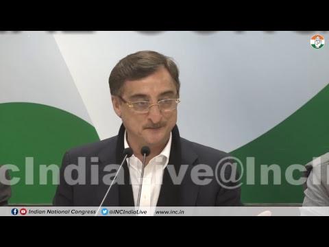 CBDT circular: AICC Press Briefing By Vivek Tankha at Congress HQ