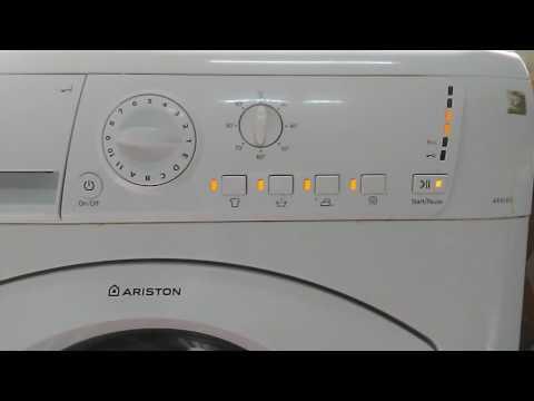Ariston washer machine hanging
