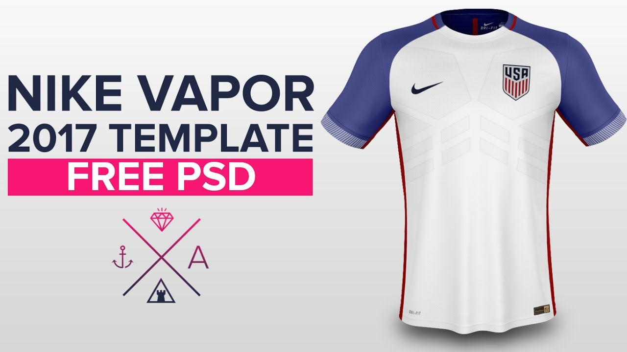 Soccer Jersey Template | Nike Vapor 2017 Shirt Template Usa Soccer Youtube
