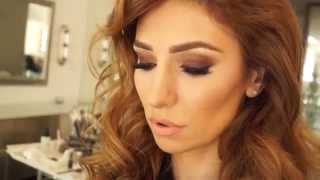Brown Smoky eye makeup & contour face for Emma Balbabyan Thumbnail