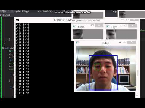 Detecting eye blink && tracking eyes and face on opencv