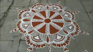 Top 25 kaavi kolam collections....for Geetha's Rangolis