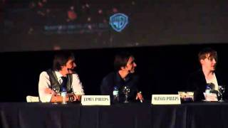 Rupert Grint y los gemelos Phelps - Despedida