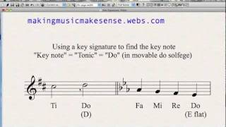 How To Use a Key Signature To Find The Key-Note, Tonic or Do