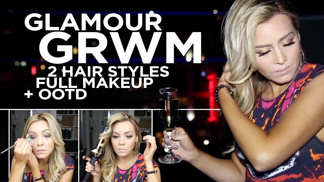 New Years Eve Party GRWM Complete Look - 2 Hair Styles - Full Makeup - OOTD