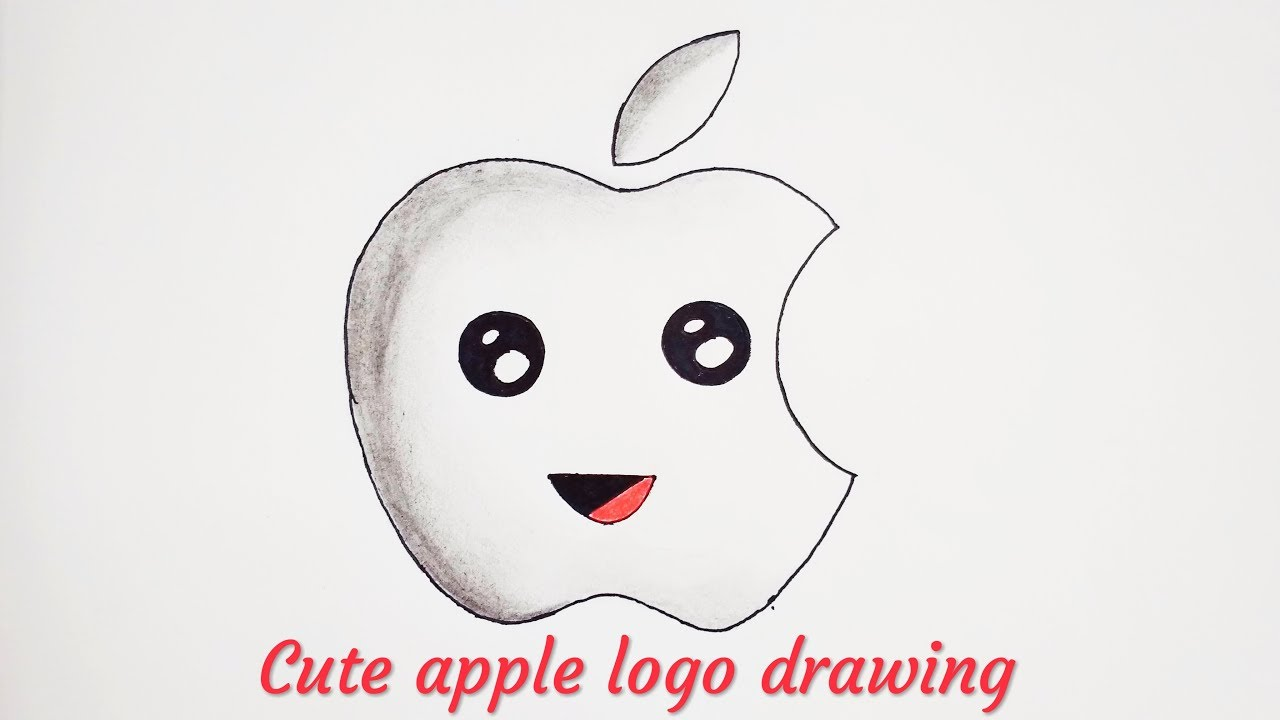 How To Draw Apple Logo Cute And Easy Youtube
