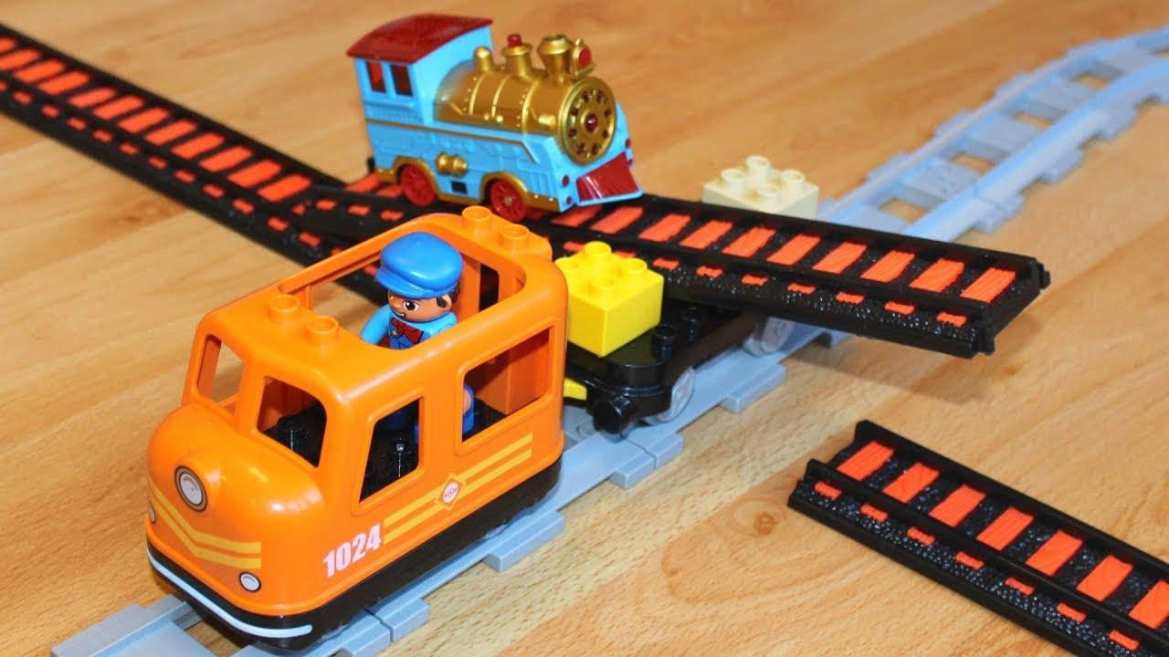 Поезда Мультики: Переправа через Перекрёсток Мультики про игрушки паровозики для детей | Trains toys