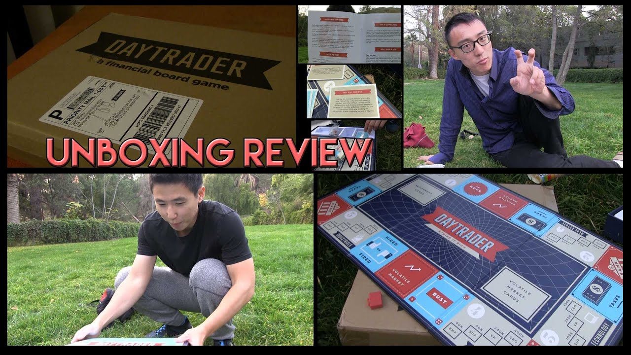 Daytrader Board Game Unboxing and Review