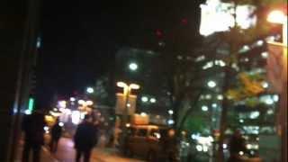 九州電力前における反原発団体の抗議活動