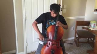 Killswitch Engage - My Curse Cello Practice  W/ Distortion