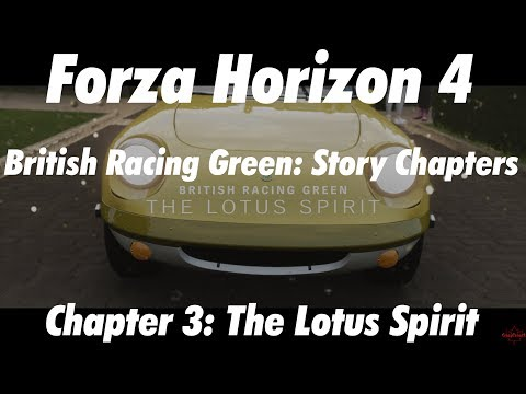 Story Chapter 3: The Lotus Spirit - British Racing Green - 3 Star Race - Forza Horizon 4