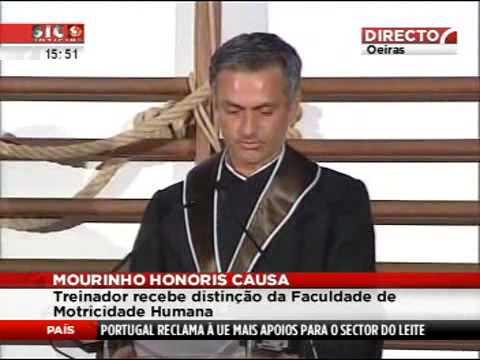 José Mourinho doutor Honoris Causa