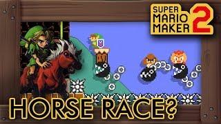 Super Mario Maker 2 - A Horse Race Level?