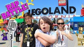 LEGOLAND RAP BATTLE!!! Surprising Big Fan at Legoland! We Found Mr. Gold Again!