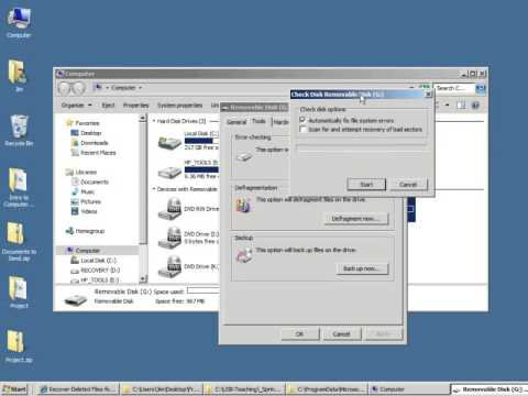Finding the Disk Utilities in Windows 7
