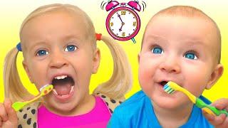 Rotina Matinal   Morning Routine   Canções Infantis da Katya e Dima