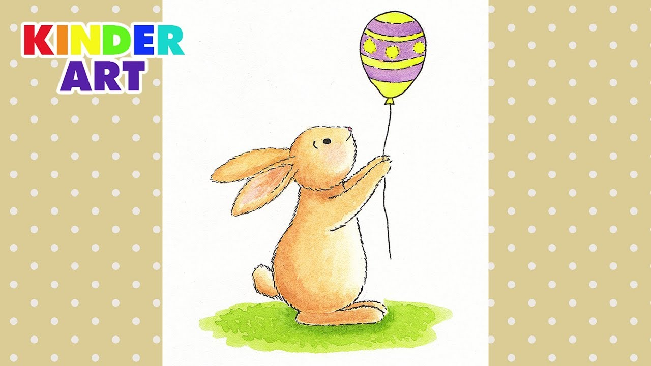 Как нарисовать пасхального кролика - Рисунок на Пасху ...