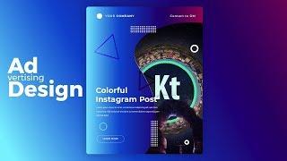 Instagram Post Design #2 - Instagram Ad - Adobe Illustrator CC Tutorial